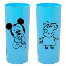 Copo Long Drink Azul Bebe