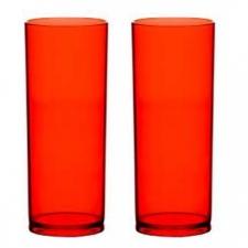 Copo Long Drink Vermelho Personalizado