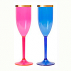 Taça de Champagne com Borda