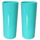 Copo Long Drink Azul Tiffany Personalizado