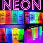 Copos fluorescentes para baladas